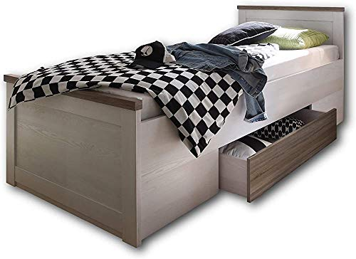 ,Grey White-Bed