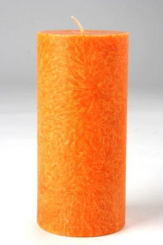 Kerzerman, candela cilindrica a pilastro, arancione, 1