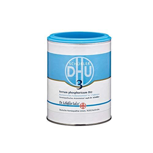 DHU Schüßler-Salz Nr. 3 Ferrum phosphoricum D 12 Tabletten, 1000 St. Tabletten