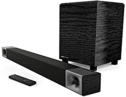 "Klipsch Cinema 400 Sound Bar + 8"" Wireless Subwoofer with HDMI-ARC"