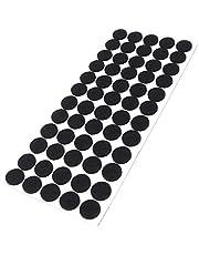 Viltglijders Ø 20 mm rond | zwart | zelfklevend | meubelglijders in topkwaliteit (3,5 mm)
