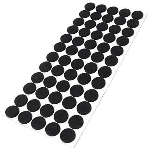 Adsamm | 60 x Filzgleiter/Ø 20 mm/Schwarz/rund / 3.5 mm starke selbstklebende Filz-Möbelgleiter in Top-Qualität
