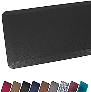 Anti Fatigue Comfort Floor Mat By Sky Mats -Commercial Grade Quality Perfect for Standup Desks, Kitchens, and Garages - Relieves Foot, Knee, and Back Pain (20x32x3/4-Inch, Midnight Black)
