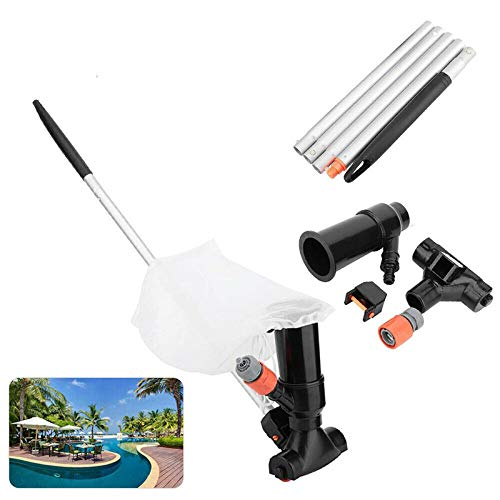 Vintan Aspiradora portátil para piscina, fuente de estanque, limpiador subacuático, aspirador de chorro