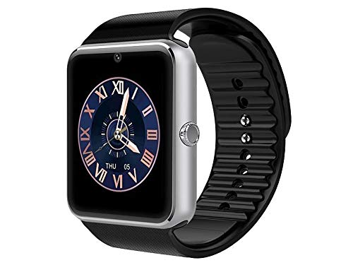 Simvalley Mobile Uhr mit SIM: Handy-Uhr & Smartwatch mit IPS-Display, Kamera, Bluetooth & App (Akku-Smartwatch)