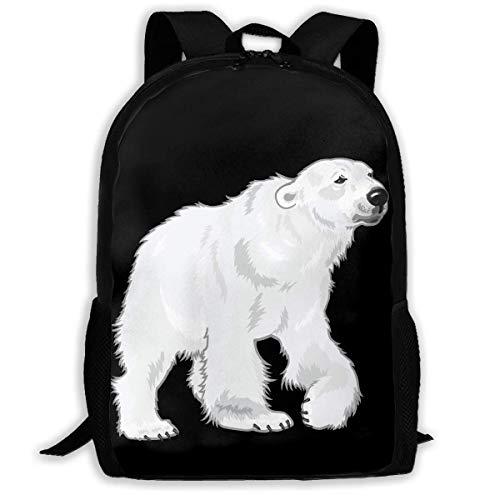 ADGBag Polar Bear Fashion Outdoor Shoulders Bag Durable Travel Camping for Kids Backpacks Shoulder Bag Book Scholl Travel Backpack Sac à Dos pour Enfants