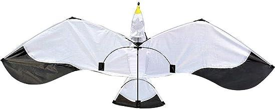 Vlieger voor kinderen en volwassenen, 3D Seagull Vlieger met 100 m vliegerlijn en spiraalvormige staartvlieger voor beginn...