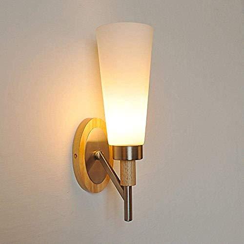 JIAWYJ YANGHHONG-lámpara de Pared- Luz de Pared de Cabeza de Vidrio de Hierro Forjado Chino XBYSNWBD-2