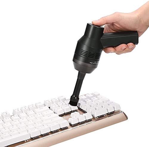 MECO Mini Aspirador de Teclado para Ordenador, Aspiradora Portátil Inalámbrico Recargable con Li-batería Aspirador con Gel, para Coche, Mesa, Escritorio, Sofá, Laptop, Migas, Virutas de lápiz, Cabello