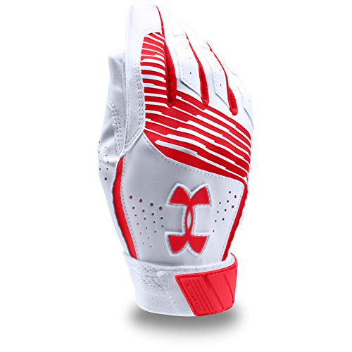 Under Armour Boy's Clean Up Baseball Batting Gloves, Red (600)/Red, Youth Large