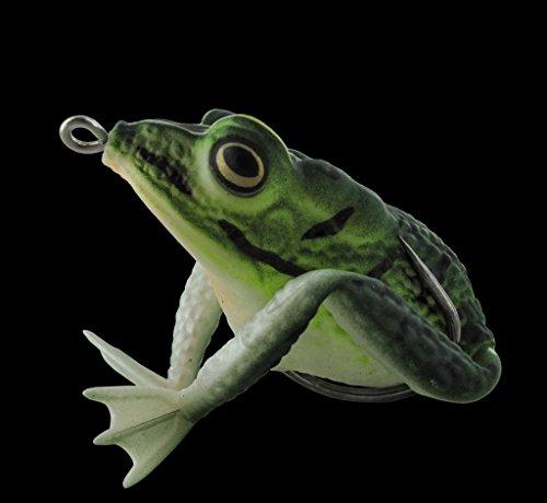 Topwater Frosch grün Krauthaken Realistic Frog