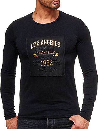 Longsleeve Shirt Longshirt Destroyed Long lang Oversize Herren Sweatshirt Tee Sweat Jacke weiß schwarz Pullover langes Kapuzenpullover...
