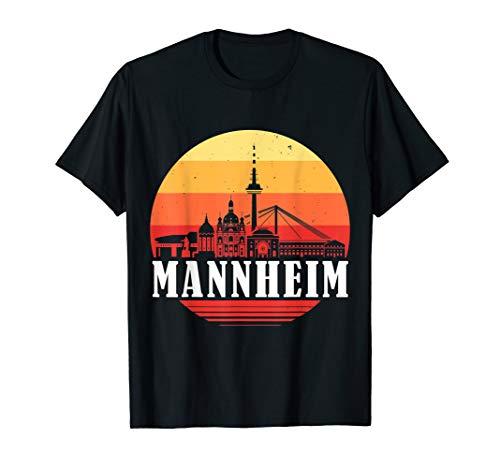 Mannheim Skyline im Retro Vintage Stil Monnem T-Shirt