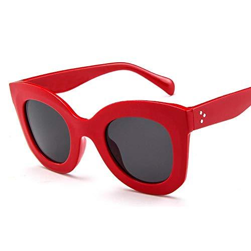 Gafas De Sol Gafas De Sol De Ojo De Gato Mujeres Hombres Gafas De Sol Retro Mujer Gafas De Sol De Plástico para Mujer Diseñador De La Marca Rojo
