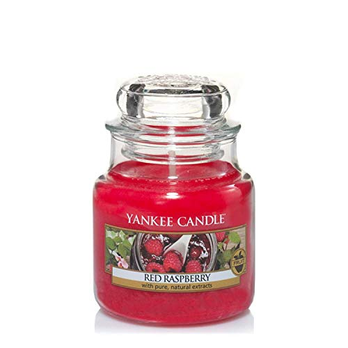 Yankee Candle Scented Candle | Red Raspberry Small Jar Candle | Burn Time: Up to 30 Hours