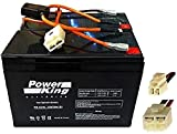 Razor 12 Volt 7Ah Electric Scooter Replacement Batteries High Performance - Rechargeable Set of 2 Includes New Wiring Harness (Replaces 6-DW-7) Beiter DC Power