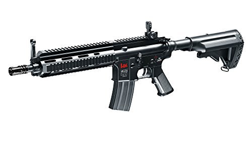 Heckler & Koch Hk416 D Cqb Rifle para Airsoft Semi-Auto, Unisex-Adult, Negro, 6 mm