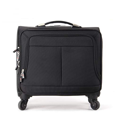 YLLHK Maleta Laptop con Bloqueo de Código, Impermeable Bolsa de Mano con Ruedas, Bolsa de Viajes de Negocios con Placa de Identificación Anti-Perdida de Embarque, 23 Pulgadas Negro