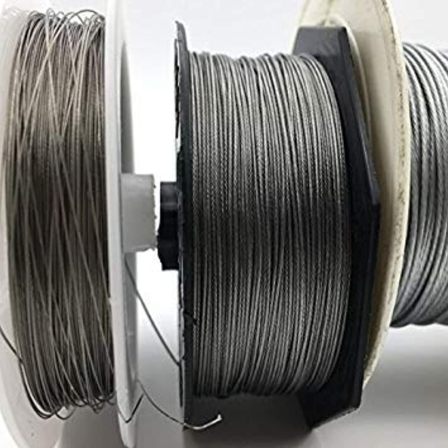 1i00mm   50M Fishing Steel Wire Fishing Lines max Power 7 Strands Super Soft Wire Lines Cover with Plastic Waterproof