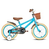 """STITCH 12"""" Kids Bike for Girls & Boys Ages 2-4Years Old, 12Inch Children Bicycle with Training Wheels & Hand Brakes, blue…"""