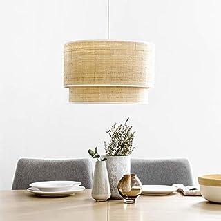 Kenay Home - Lámpara de Techo Lombok Doble Blanca