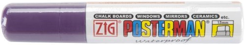 Zig 15mm Posterman Tip Marker, lila by Kuretake Zig B01KB6YFLC     | Elegante und robuste Verpackung