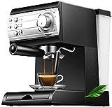 N\C Máquina de café Máquina de café Espresso, Capacidad, Potente cafetera de presión, cafetera con Varilla de espumador de Leche para Cappuccino Latte y Mocha (15 Tazas), Color Negro Chen