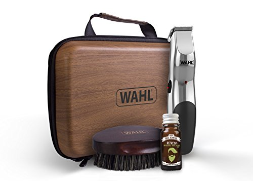 Wahl Beard Trimmer Men, Beard Care Kit Hair Trimmers for Men with Beard Oil and Beard Brush, Stubble Trimmer, Male Grooming Set