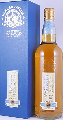 Highland Park 1986 21 Years Cask 2252 Duncan Taylor Cask Strength Rare Auld Edition Orkney Single Malt Scotch Whisky 55,7% Vol. - eine von nur 258 Flaschen!