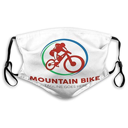 NYNELSONG Reusable Face Mask Mouth Masks Unique Mountain Bike Logo Simple Shape Colors Work fine Every Materials Perfect Your Company Small Adjustable Covers