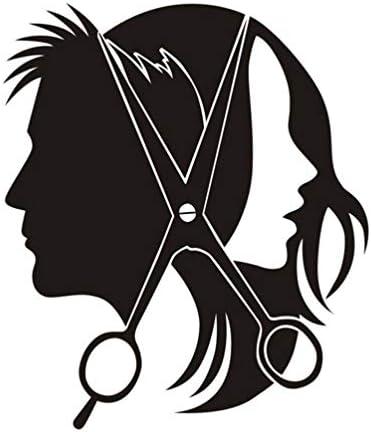 IMIKEYA Men Women Haircut Wall Sticker PVC Novelty Silhouette Wall Decal Salon Wallpaper Wall product image