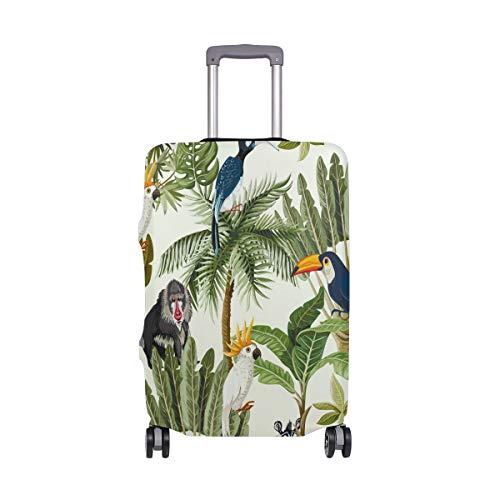 Kiwi Palm Leaves - Funda para Maleta de Viaje (poliéster, se Adapta a Maletas de 18-20 Pulgadas) Multicolor Multicolor 29-32 Inches