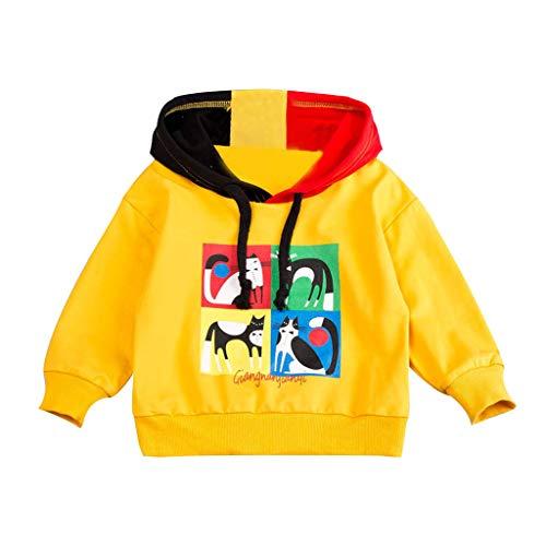 FRAUIT Kinder Hoodie Sweatshirt Jungen Mädchen Kapuzenpullover Katzenabdruck Herbst Winter Pullover Mit Kapuzen Süß Freizeit Party Kleidung Bluse Tops 80-110
