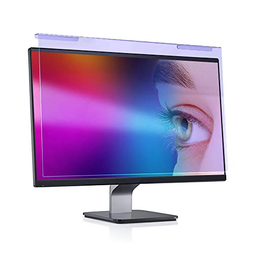 Anti Blue Light Screen Filter for 20 21.5 22 inch, Universal Widescreen Desktop PC Monitor Panel Reduces Eyes Strain & Scratch Resistant Protection Filter Hanging Type (16:9/16:10)