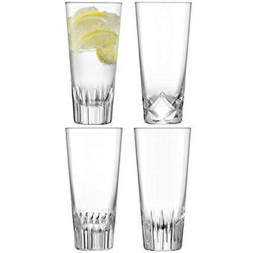 LSA International des Tatras mixeur en Verre Transparent 315 ML/Assortiment des Coupes X 4, Clair, Lot de 4