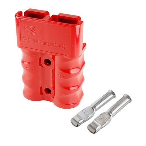 バッテリーコネクタ デュアルタイプ 125A 4AWG BMC2M-22-E 2セット入 レッド