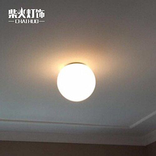 SDKKY Lampes de chevet américain nordique minimaliste chambre balcon escalier corridor innovation ball plafonnier 140mm