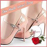 Tacchi delle scarpe istantaneo cinghia, cinghie di scarpe staccabili for i tacchi, staccabile antiscivolo scarpe anti-loose delle donne cinghie for High Scarpe con tacco (rosso) (Color : Black)