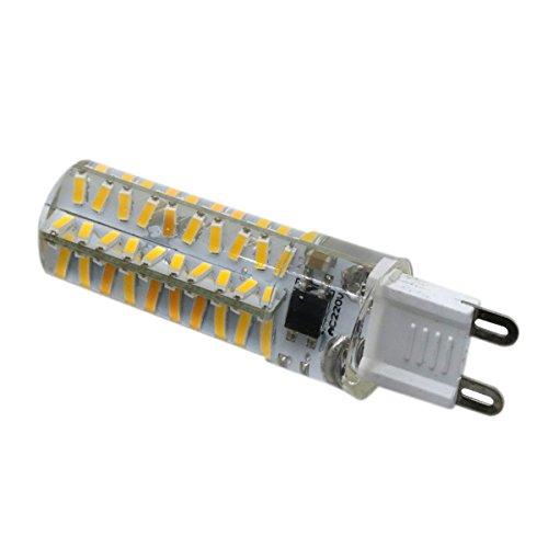 Philip Peacoc Lampadina G9 dimmerabile in silicone 4014 SMD 80LED Lampadina a risparmio energetico 5W (equivalente alogeno 50W) Lampadina a LED Adatta for illuminazione domestica CA 110 V/CA 220 V