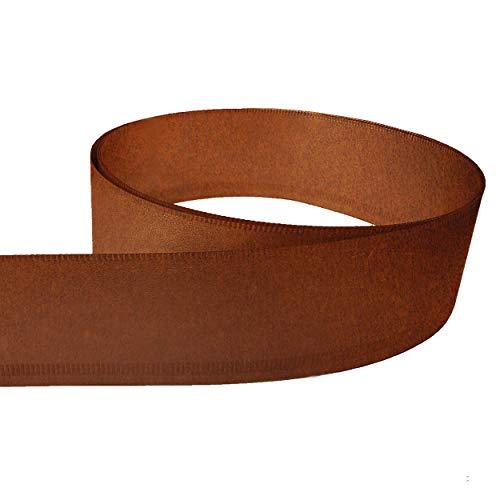 innogard Rasenkantenband aus Corten Stahl Edelrost – Höhe 20cm, Länge wählbar, Rasenkante mit Schutzkante und Verwindungssteife Kante, Profilkante für Beetumrandung, Mähkante, Randsteine