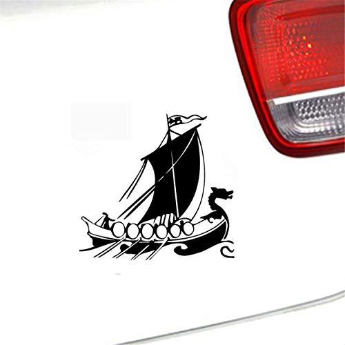 20 Cm x 18,8 Cm Drachenkopf Wikinger Schiff Interessante Abziehbilder Auto Aufkleber Für Auto Laptop Fenster Aufkleber