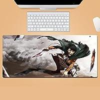 Attack On Titan 進撃の巨人 マウスパッド 大型 超大型 デスクマット ゲーミングマウスパッド アニメ キーボードパッド 防水 滑り止め 耐久性 おしゃれ マウス用パッド ズ オフィス/自宅兼用-800*300*3mm-B_900*400*3MM