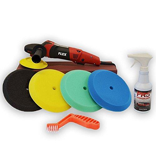 detail king orbital polisher buffers Flex PE14-2-150 High Speed Polisher Foam Pad Set | Foam Pads | Clean All Towel and Pad Detergent | Pad Cleaning Tool
