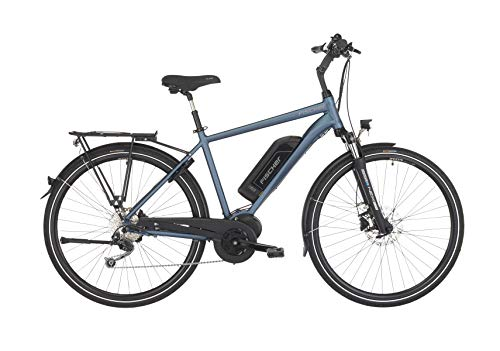 Fischer Herren – E-Bike Trekking ETH 1820, saphirblau matt, 28 Zoll, RH 50 cm, Mittelmotor 50 Nm, 48 V Akku