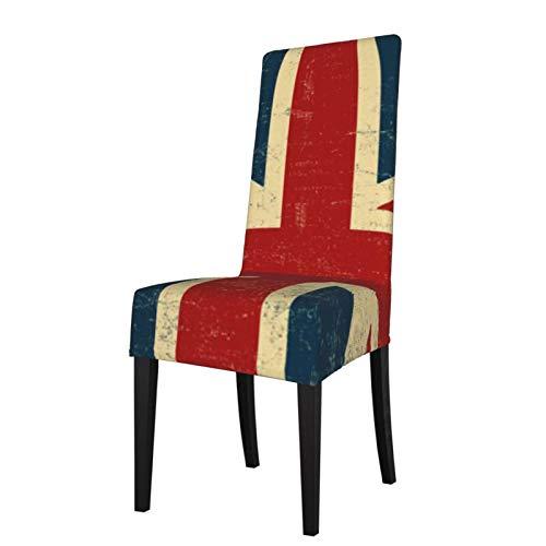 Uliykon Funda elástica para silla de comedor, diseño vintage de Union Jack, elástica, extraíble, lavable, para comedor, hogar, cocina, hotel, ceremonia, fiesta