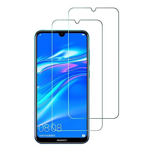 2Pack, Panzerglas Compatible Con Huawei Y7 2019, Displayschutzfolie, Hohe Auflösung Glas,[9H Härte], [Crystal Clearity], [Kratzfest], [No-Bubble] für Huawei Y7 2019