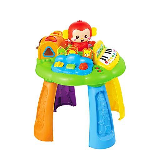 Jouets musicaux Jeu pour enfants Table de jouets Singe Table d'apprentissage Musique pour bébé Musique Lumières Jouets éducatifs pour enfants Jeux éducatifs pour la petite enfance 1-3 ans Jouets inter