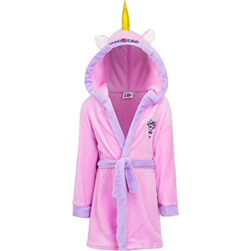 LOL Peignoir licorne couleur rose pour fille, tailles 3/4-5/6-7/8-9/10 ans - Rose - 3-4 ans