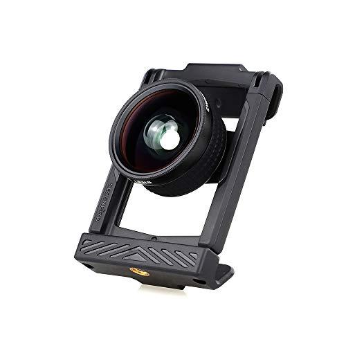 SESENPRO スマホ用カメラレンズ 0.6x広角レンズ マクロレンズ クリップ式 スマホ用カメラレンズ フロントレンズとリアレンズ 自撮りレンズ 簡単装着 携帯レンズ iPhone/Androidなどの多機種に対応