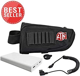 theOpticGuru ATN Extended Life Battery Pack 20000 mAh with USB Cable, Cap and Butt Stock case